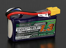 New Turnigy Nano-Tech 1300mAh 3S 11.1v 45C 90C Lipo Battery Pack XT60 XT-60