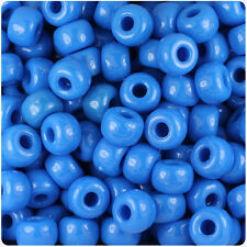 250 True Blue Neon Bright 11x8mm Barrel Pony Beads Made in the USA