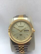 Citizen Men's Analogue Automatic 21 Jewels Day/ Date Two/Tone Watch