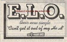 ELO Can't Get It Out Of My Head 1975 small UK Press ADVERT 3X2 inches