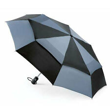 totes Wonderlight Auto Double Canopy Umbrella Black & Grey