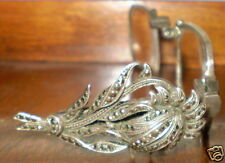 Antique Silver Marcasite Folding Lorgnette Opera Reading Magnifying Glasses 835