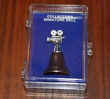 NEW COLLECTORS MINIATURE BELL WITH FILM CAMERA HOLLYWOOD CALIFORNIA SOUVENIR