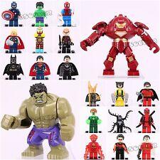 20pcs Super Hero DEADPOOL LOKI WOLVERINE The Flash Batman shazam Fits Lego