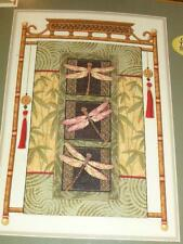 New GOLD COLLECTION Dimensions DRAGONFLY SCROLL Counted Cross Stitch Kit 35131