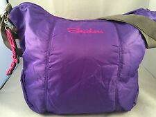 "SKECHERS ~ Purple  Duffle Bag  Shoppers Tote  ""Ready for Spring"" 13"" X 7"" X 16"""