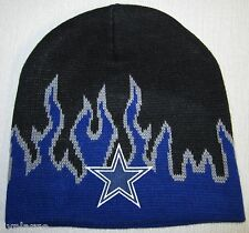 DALLAS COWBOYS FIRE BEANIE ~SKULL CAP ~HAT ~CLASSIC NFL PATCH/LOGO ~NEW