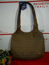 COACH SOHO SHOULDER TOTE  SIGNATURE CANVAS LEATHER PURSE HANDBAG M3K-7025