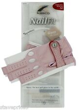 KASCO LADIES PINK NAIL FIT GOLF GLOVE. LARGE. RIGHT HAND FOR LEFT HANDERS.
