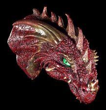 Drachen Schädel - Rageon's Kopf mit LED Augen - Figur Wand Deko Fantasy