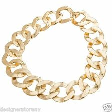 "Kenneth Jay Lane 18"" satin gold link necklace 6490N18"