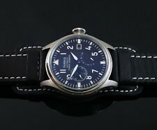 Parnis big Pilot 47mm black dial Power Reserve Chronometer automatic watch 094