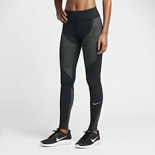 NEW NIKE WOMENS ZONAL STRENGTH RUNNING TIGHTS PANTS SMALL BLACK GREY 831128 011