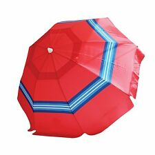 Nautica Red Sunset Stripe Beach Umbrella - Brand New With Tags