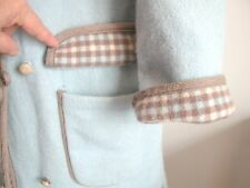 "CLASSIC 100% BOILED WOOL PLAID/PLAIN REVERSIBLE 'WETHERALL BOND ST-W1' -43"" BUST"