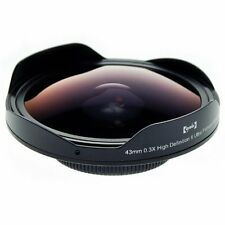 Opteka Platinum Series 43Mm 0.3X Hd Ultra Fisheye Lens For Digital Video Camcord