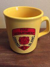 Grand Blanc MI Fire Dept Coffee Mug Yellow First Responders