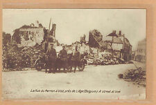Cpa militaire - la rue du Perron à Visé près de Liège Belgique tp0403