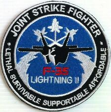 LOCKHEED MARTIN F-35 LIGHTNING II JOINT STRIKE FIGHTER US AIR FORCE NAVY PATCH