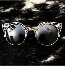 "18K GOLD ""FLEUR Sunglasses"" women cat eye sexy hot ronette metal caged vtg retro"
