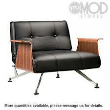 Danish Lounge Chair Scandinavian Armchair Mid Century Modern Leather Textile