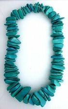 """UNIQUE Graduated Chunky Piece Blue  Magnesite Turquoise Bead 15"""" Strand mb184"""