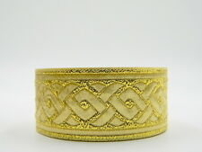 ~AWESOME METALLIC GOLD CELTIC KNOT*JACQUARD BRAID/TRIM*35mm