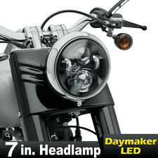 "7"" Motorcycle Projector Daymaker LED Light Bulb Headlight For Harley Touring New"
