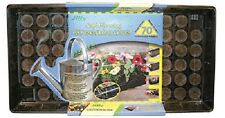 (2) JIFFY SELF WATERING GREENHOUSE 70 CELL WICKING SYSTEM SEED STARTER - T70H