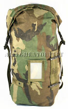 Military Storage Compression Carrying Gear Bag Utility STUFF SACK Woodland GOOD