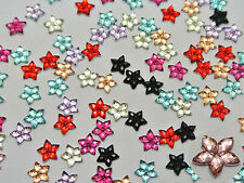 1000 Mixed Color Acrylic Flatback Faceted Star Rhinestone Gems 6mm