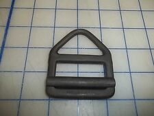 one 1 metal buckle black vintage belt safety harness D-ring USA made military