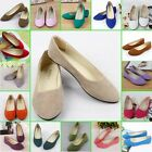 New Women's Ballerina Ballet  Flats Shoes Slip On Boat Loafers Single Shoes