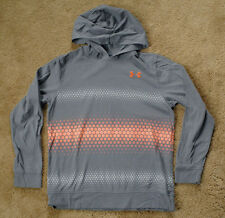 UNDER ARMOUR Loose Heat Gear gray YLG large light weight hoodie
