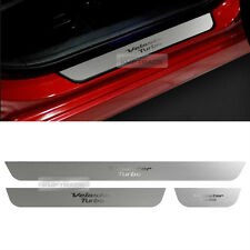 For HYUNDAI 11-16 Veloster Turbo Hairline Metal Door Sill Scuff Step Plate 3Pcs