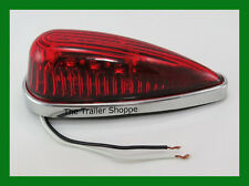 Cab Roof Clearance Marker Teardrop Red LED Lights Ford Chevy Dodge Pick-up