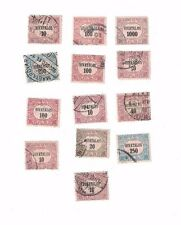OLD 13 used postal stamps,  MAGYAR KIR POSTA Hungary, 1900s  HIVATALOS FILLER