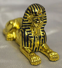 Gold Plated Sphinx Collectible Figurine EGYPTIAN TREASURES FREE S&H