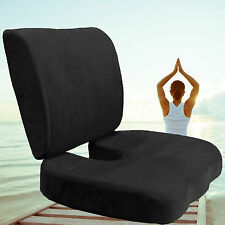 2PCS Car Office Home Memory Foam Seat Chair Waist Lumbar Back Support Cushion EK
