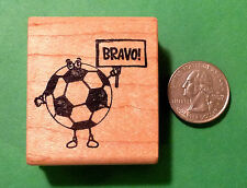 Bravo! Soccer Ball, Teachers' Stamp, Wood Mounted
