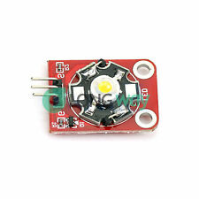 5PCS 3W High-Power KEYES LED Module with PCB Chassis for Arduino STM32 AVR