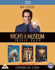 NIGHT AT THE MUSEUM - 1 TO 3 BOXSET  - BLU-RAY - REGION B UK