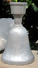 Vintage 1974 Anvil craft dinner bell candle holder colonial pewter style