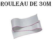 Nappe AWG28 gris 10 points à sertir pas 1.27mm couronne de 30m