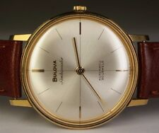 1966 Bulova Ambassador Gold Plated Swiss Automatic 30J 12EBA Micro Rotor Watch
