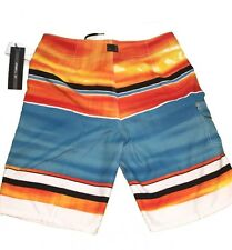 Men's Oneill Costa Maya Blue Orange Black Boardshorts Size 30
