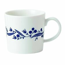 "NEW ROYAL DOULTON FABLE NAVY BLUE BERRY FLORAL GARLAND 3 1/2"" PORCELAIN MUG"