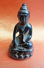 Azurit Statue, Buddha,in Bhumisparsa Mudra Pose,sehr seltenes Stück,aus Sammlung