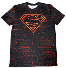 New MENS DC COMICS Superman LOGO Athletic COMPRESSION tight fit TEE T-SHIRT- MED