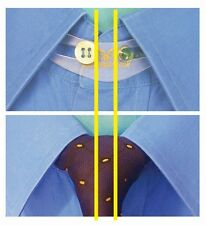 "12-Pk SHIRT/TIE Collar Button Extender 17"" NECK BUT 16½"" SHIRT? Adds ½"" (1.5cm)"